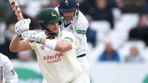 Notts batsman Joe Clarke