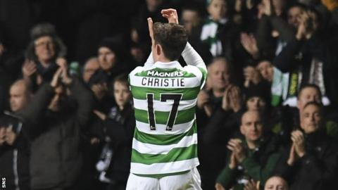 Celtic's Ryan Christie receives a standing ovation