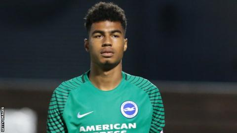 Robert Sanchez in action for Brighton Under-23s