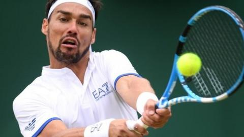 Fognini spouts off on Wimbledon getting bombed