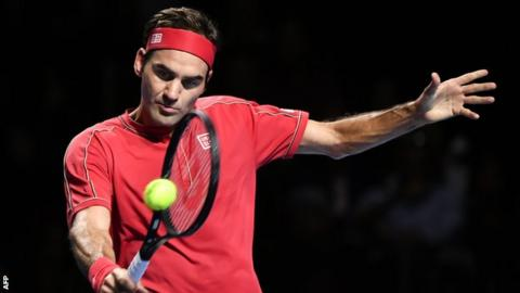 Roger Federer at the Swiss Indoors in Basel