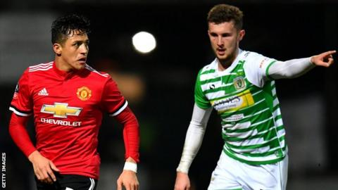 Tom James was part of the Yeovil team that faced Manchester United in the FA Cup in 2018