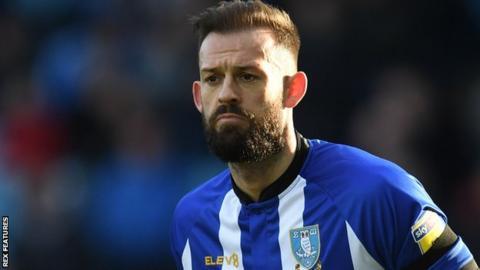 Steven Fletcher playing for Sheffield Wednesday