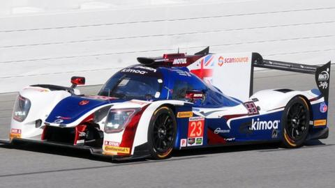 Fernando Alonso in action at Le Mans