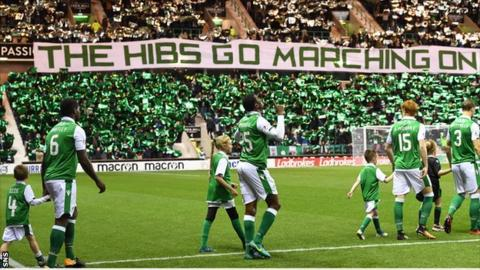 Apart from Celtic and Rangers, Hibs had the biggest average crowd in Scotland