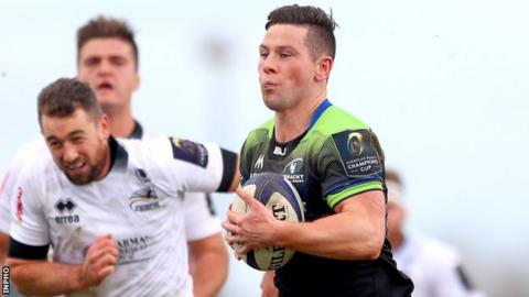 John Cooney was among Connacht's try scorers at the Sportsground