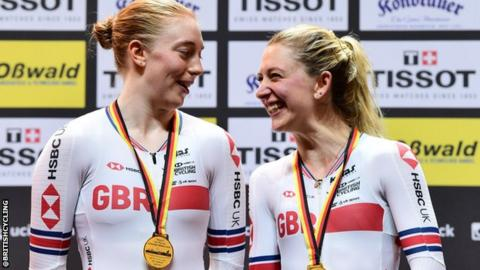 Emily Nelson and Laura Kenny