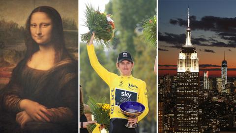 The Mona Lisa, Geraint Thomas and The Empire State Building