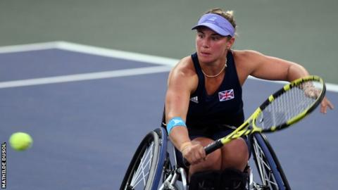 Lucy Shuker in action at the BNP Paribas World Team Cup