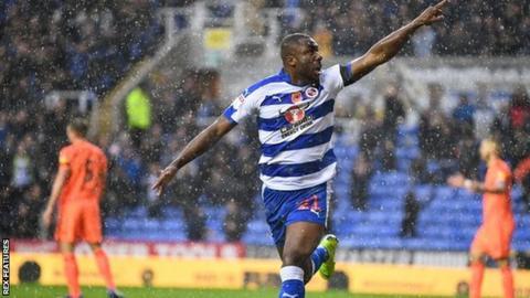 Yakou Meïte of Reading celebrates after scoring