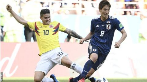 Colombia win 3-0 to knock Poland out of World Cup