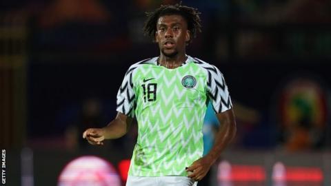 Arsenal and Nigeria's Alex Iwobi