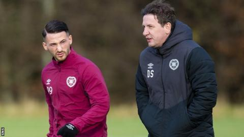 Donis Avdijaj has reunited with Daniel Stendel to become the Hearts manager's first signing