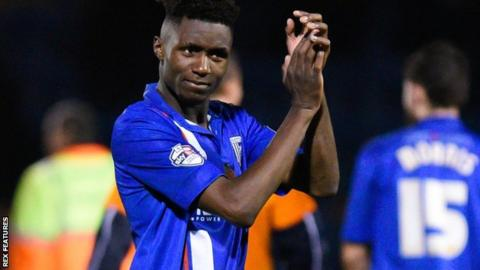 Gillingham midfielder Emmanuel Osadebe