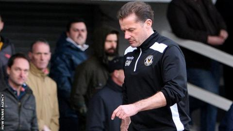 Newport manager Graham Westley