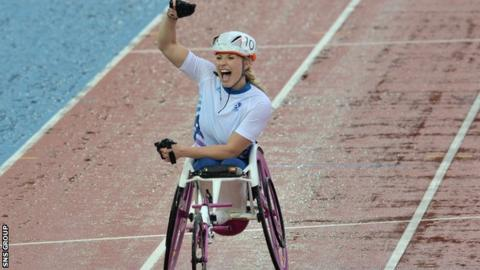 Sammi Kinghorn finished fifth over 1500m at the Glasgow Commonwealth Games in 2014