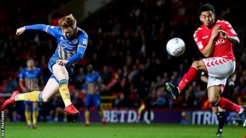 Jon Nolan scores for Shrewsbury