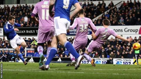 Ryan Fraser puts Ipswich into the lead against Reading