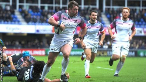 Sam Parry crossed for the third Ospreys try