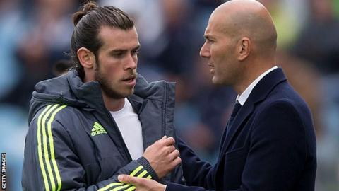 Real Madrid boss Zinedine Zidane will 'count on' Gareth Bale