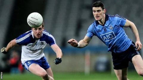 Monaghan's Kieran Duffy and Dublin's Diarmuid Connolly