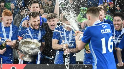 It's a champagne moment for Dungannon Swifts as they celebrate their League Cup triumph