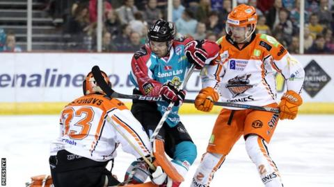 The Belfast Giants in action against the Steelers at the SSE Arena