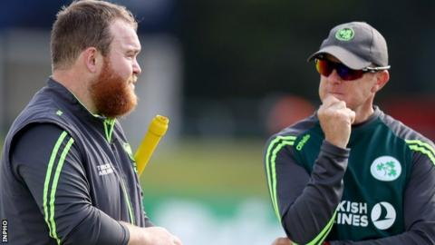 Ireland's Paul Stirling and head coach Graham Ford