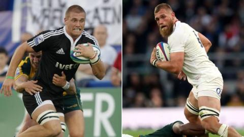 Brad Shields playing for New Zealand and England