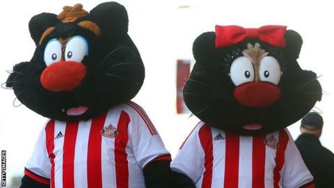 Sunderland mascots Samson and Delilah