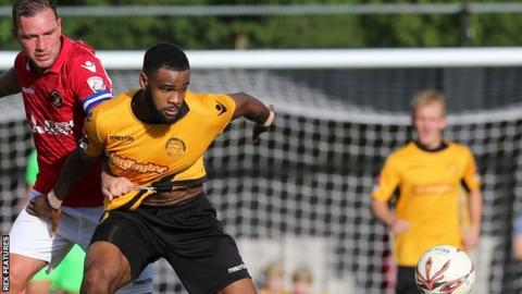 Marc-Anthony Okoye playing for Braintree Town