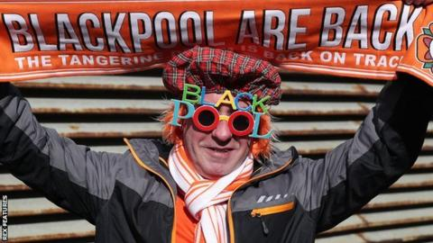Blackpool fan with cool glasses