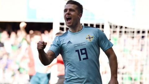 Jamie Ward of Northern Ireland celebrates