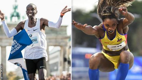Eliud Kipchoge and Caterine Ibarguen