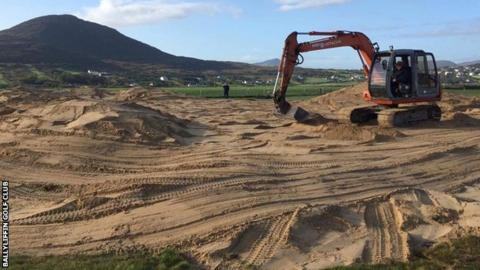 "Designer Pat Ruddy has been ""back on the digger"" during work on the new Pollan Links"