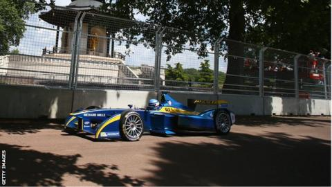 Formula E car in Battersea