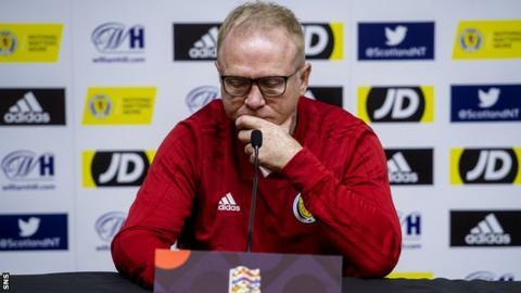 Scotland head coach Alex McLeish