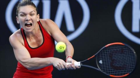 Simona Halep of Romania