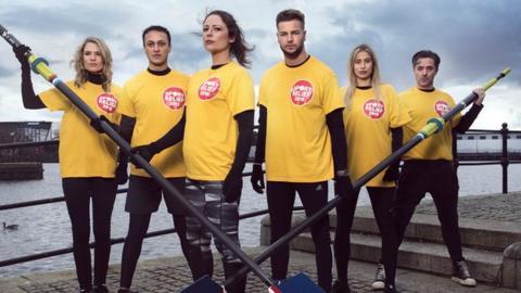 Members of the ITV Sport Relief team