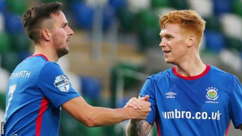 Andy Waterworth and Chris Casement combined for Linfield's early opener