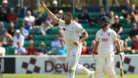 Yorkshire all-rounder Tim Bresnan