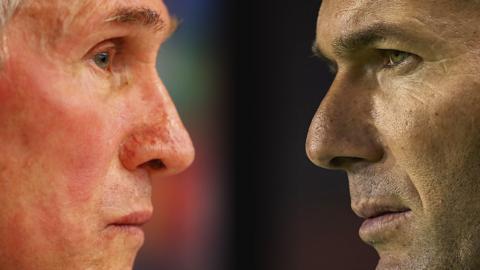 Jupp Heynckes and Zinedine Zidane