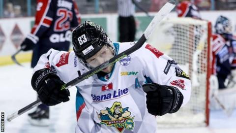 Dustin Johner scored to give Belfast the lead in the first period
