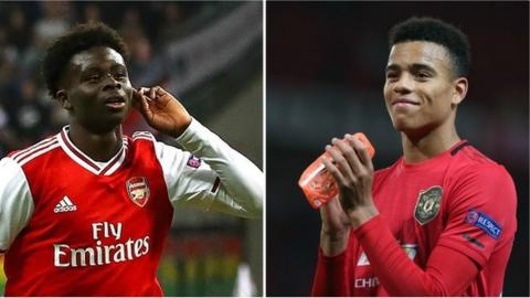 Bukayo Saka and Mason Greenwood