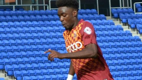 Devante Cole joined Bradford in the summer after leaving Manchester City