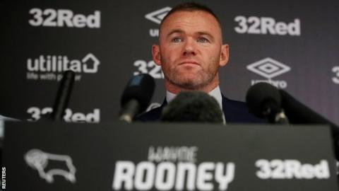 Wayne Rooney at Derby press conference