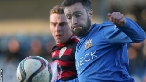 Mark Patton has found the net 23 times during his four years with the Lurgan Blues