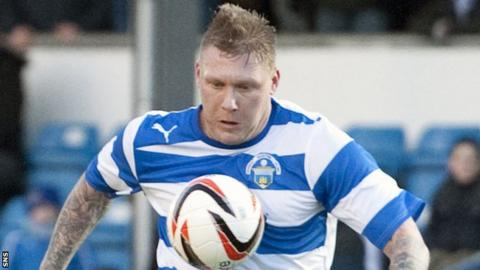 Garry O'Connor in action for Greenock Morton