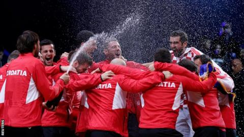 Davis Cup: Marin Cilic seals victory for Croatia vs France