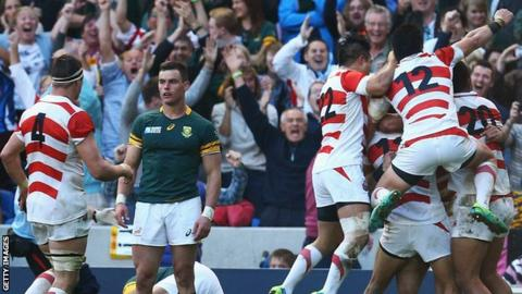 Rugby World Cup 2015: South Africa 32-34 Japan